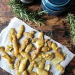Roasted Potato Peelings with Rosemary and Sea Salt