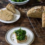Seedy Soda Bread with Sauteed Herby Greens