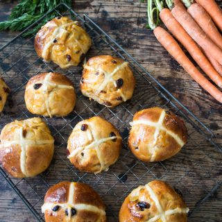 Carrot and Ginger Hot Cross Buns