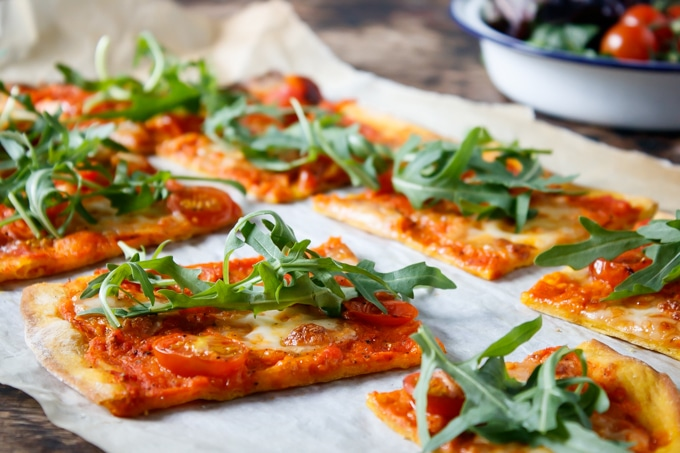 Carrot Pizza with Carrot Pizza Sauce | Veggie Desserts Blog