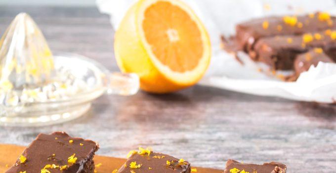 Vegan Chocolate Orange Oat Bars