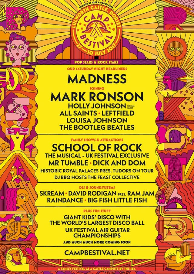 Camp Bestival 2017 Lineup