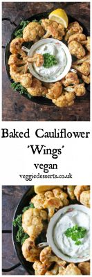 Baked Cauliflower Wings with Herb and Garlic Dip   Veggie Desserts Blog
