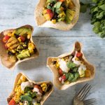 Mexican Grilled Chipotle Salad in Tortilla Bowls