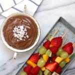 Chocolate Avocado Dip with Fresh Fruit Skewers