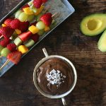 Chocolate Avocado Dip with Fresh Fruit Skewers