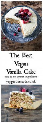 The Best Vegan Vanilla Cake with Berries | Veggie Desserts Blog