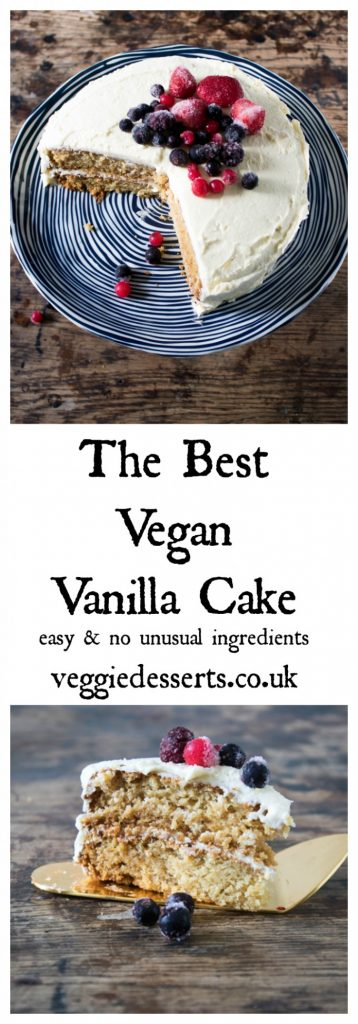 The Best Vegan Vanilla Cake with Berries | Veggie Desserts Blog
