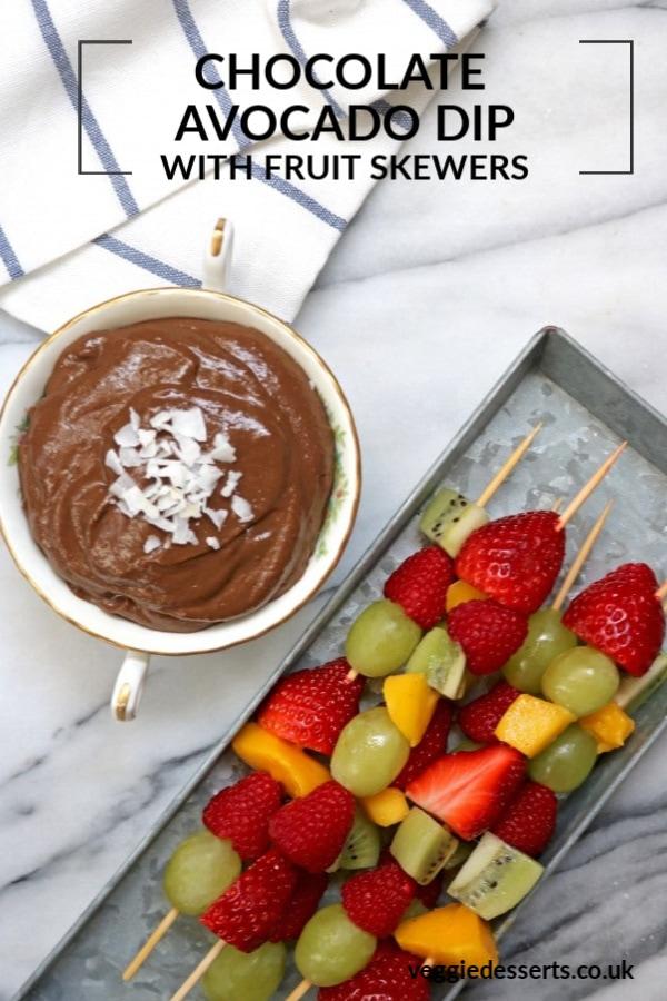 Pinnable image for Chocolate Avocado Dip