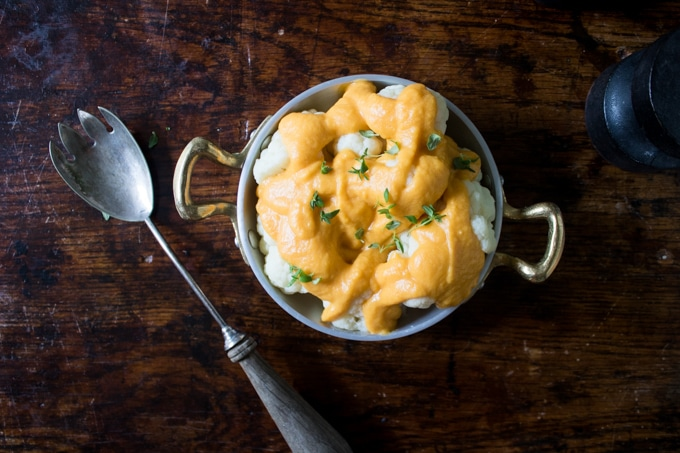 Cauliflower with Roasted Butternut 'Cheese' Sauce | Veggie Desserts Blog