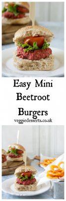 Easy Mini Beetroot Burgers   Veggie Desserts Blog