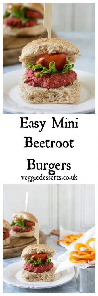 Easy Mini Beetroot Burgers | Veggie Desserts Blog