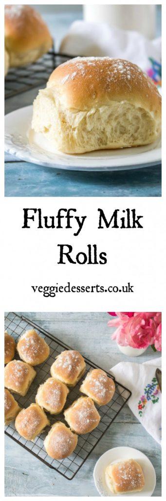 Fluffy Milk Rolls Recipe | Veggie Desserts Blog