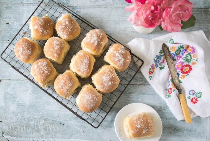 Fluffy Milk Rolls Recipe   Veggie Desserts Blog