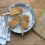 Apple Popsicles with Date Caramel Crumble