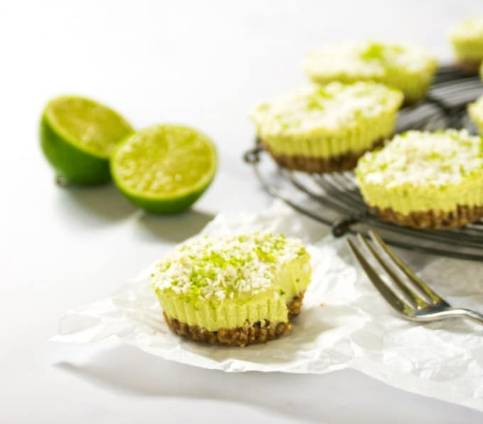 Avocado Lime Tarts - From Veggie Desserts + Cakes by Kate Hackworthy | The Veg Space
