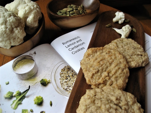 Cauliflower Lime Cookies by Pebble Soup from the Veggie Desserts Cookbook