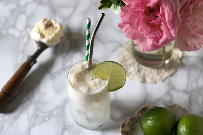 Gin and Tonic Float | Veggie Desserts Blog