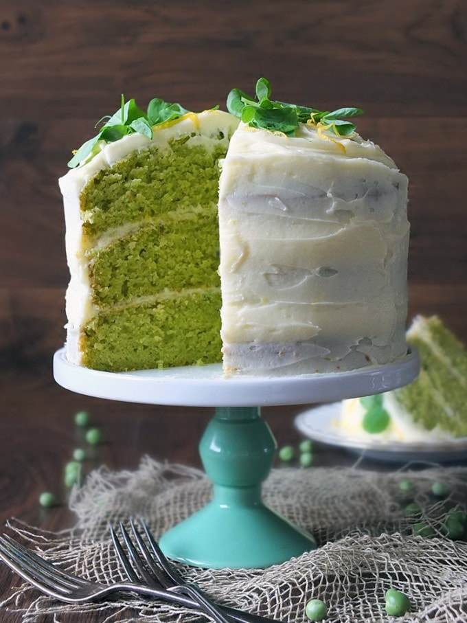 Pea and Vanilla Cake by Elizabeth's Kitchen Diary From Veggie Desserts and Cakes Cookbook by Kate Hackworthy
