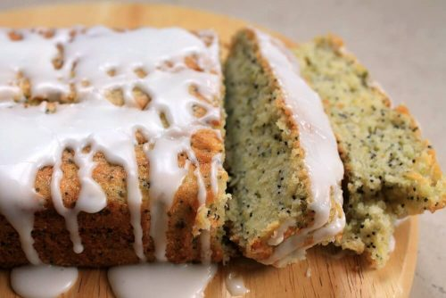 Courgette Poppy Seed Loaf with Lavender Icing by BakingQuieen74 From Veggie Desserts and Cakes Cookbook by Kate Hackworthy