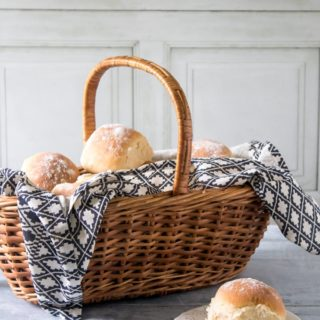 A basket of rolls.