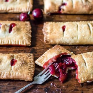 Lime and Fresh Cherry Hand Pies | Veggie Desserts Blog
