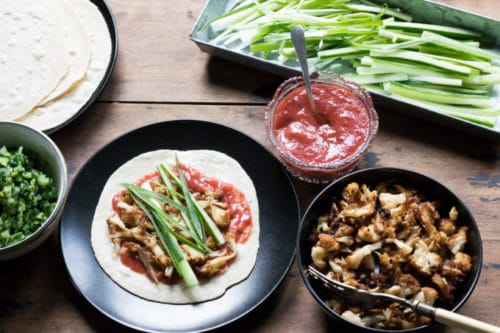 Vegan Crispy 'Duck' Cauliflower with Pancakes | Veggie Desserts