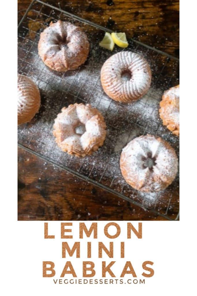 Pinnable image for lemon babka babeczki recipe
