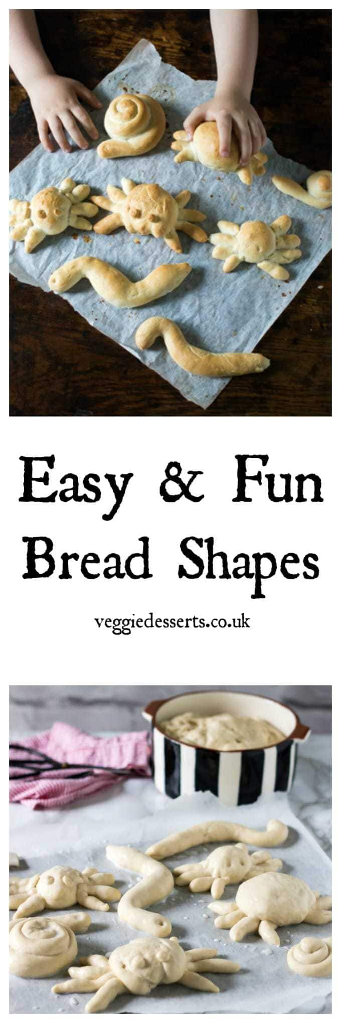 Easy and Fun Bread Shapes - These bloodcurdling bug shapes are perfect for halloween! Easy enough for kids to make. #halloween #cookingwithkids #healthykids #bread #breadshapes #rolls