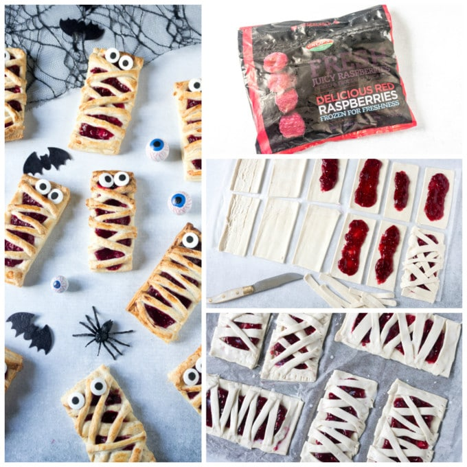 How to make Halloween mummy hand pies. Step by step photos.