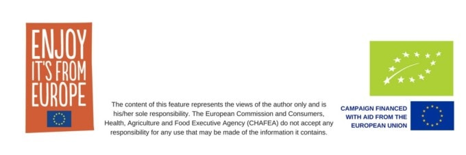 EU disclaimer. Organic Feed Your Happy Campaign.