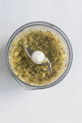 Tagliatelle with Creamy Pistachio Sauce (vegan). Step 2: Whiz in a food processor until crumbly