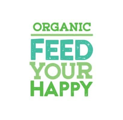 Organic Feed Your Happy Campaign Logo