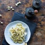 Tagliatelle with Creamy Pistachio Sauce