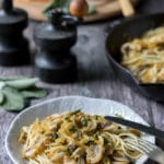 Mushroom Pasta with Butternut Squash and Sage