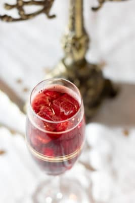 Sparkling Mulled Wine Cocktail on Ice! A nice alternative to hot mulled wine.