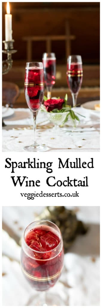 Mulled wine spritzer veggie desserts this sparkling mulled wine cocktail is a fun twist on the classic christmas drink it forumfinder Choice Image