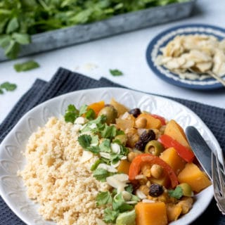 This easy vegan vegetable tagine is simple to make and full of Moroccan flavours. It's a hearty and warming dish.