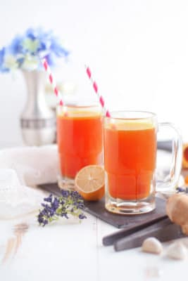 Healing Turmeric Tonic - Veggie and Vegan Cold and Flu Fighting Recipes