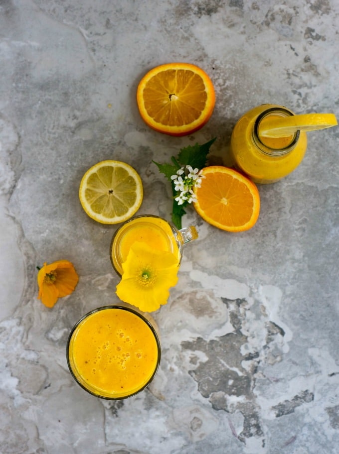 CItrus Smoothie - A cold and flu busting vegan recipe