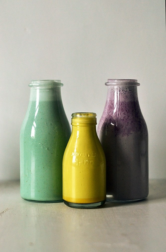 Rainbow Superfood Milks - Cold and Flu Fighting Recipes (vegan and vegetarian)