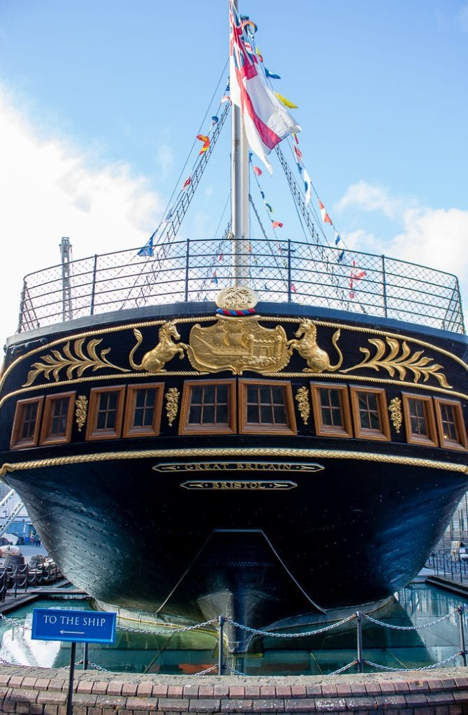 The SS Great Britain - Brunel's famous ship, now turned into a family-friendly museum in Bristol