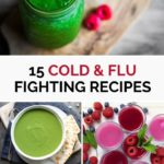 Pinnable image for Vegetarian and Vegan Immune Boosting Cold and Flu Recipes Roundup