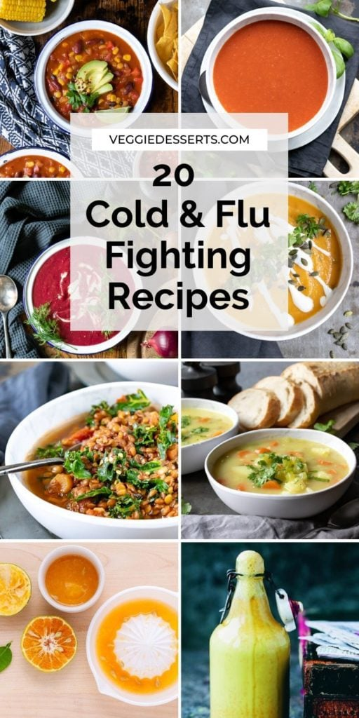 Pinnable image for Cold and Flu Fighting Recipes