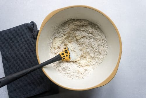 How to make easy naan bread recipe: step 1 - mix all ingredients together in a large bowl