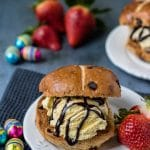 3 Ingredient Hot Cross Bun Ice Cream Sandwiches