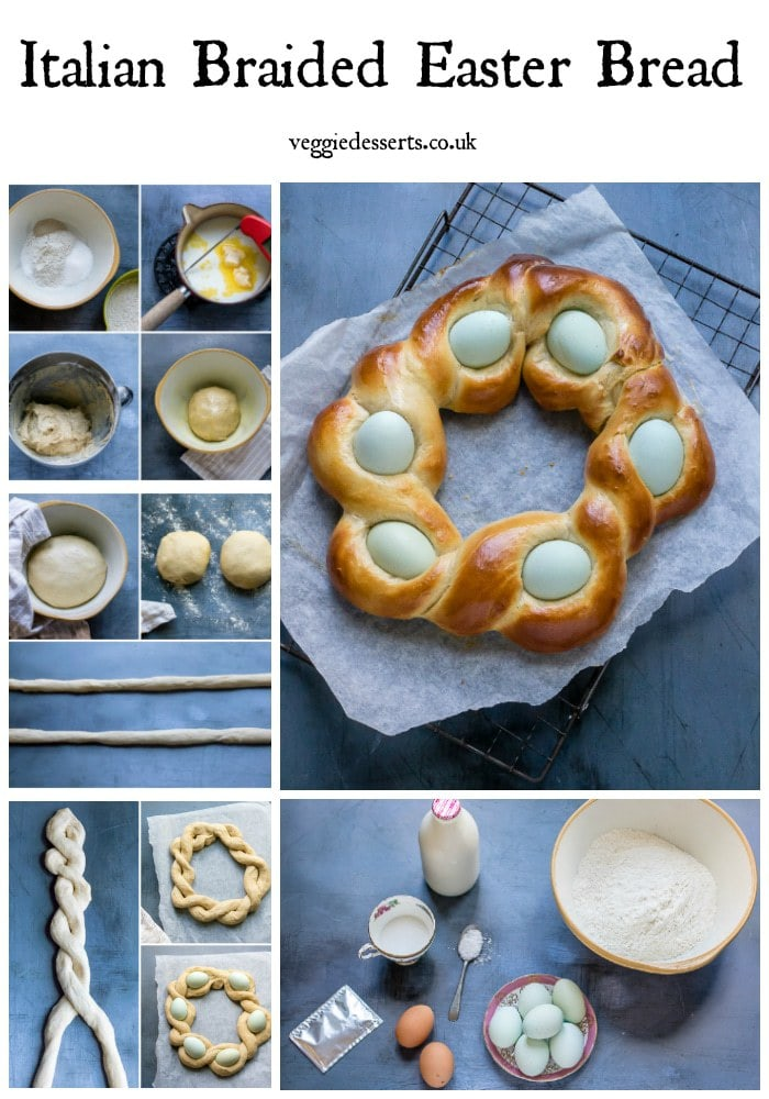 pinnable image for Italian Easter Bread wreath