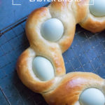 pinnable image for Easy Italian Braided Easter Bread recipe