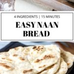 pinnable image for easy naan bread recipe