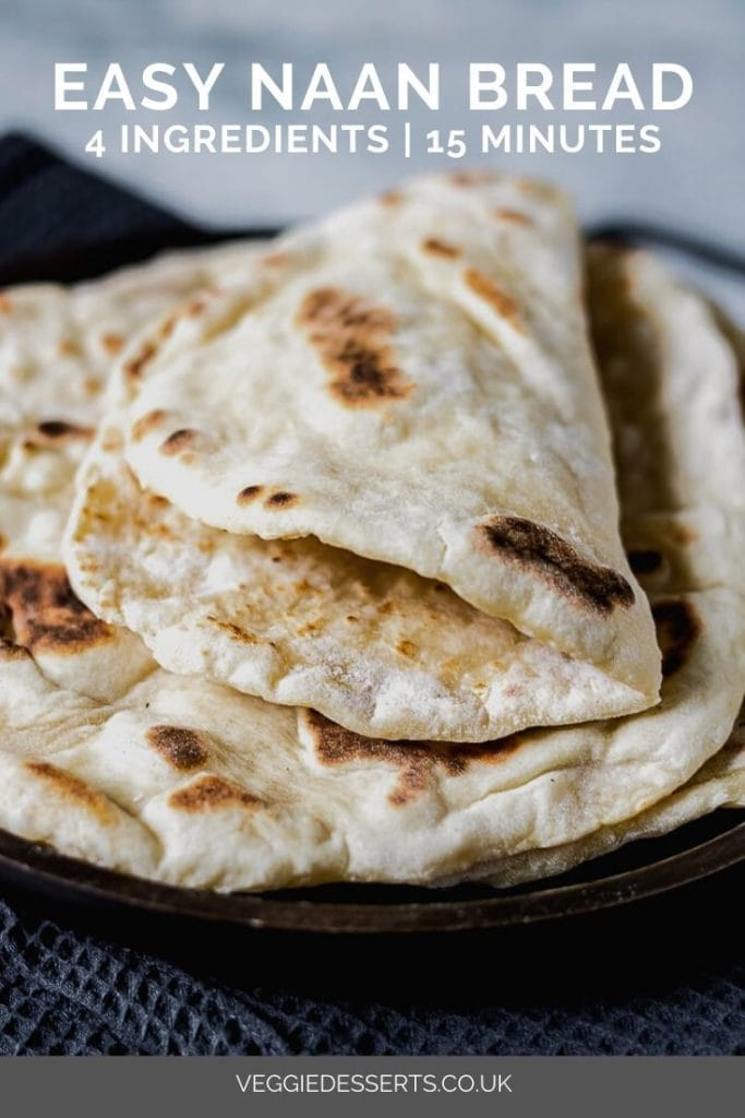 pinnable image for easy quick naan bread recipe